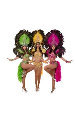 Mädchen in Brasilien Karnevalskleider isoliert erschossen Standard-Bild