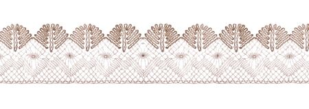 Pastel color lace ribbons isolated view