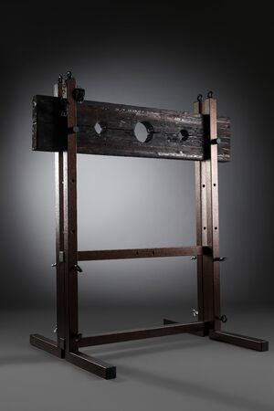 Bdsm furniture view against gray background Reklamní fotografie