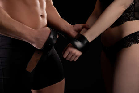 Couple during BDSM sex game