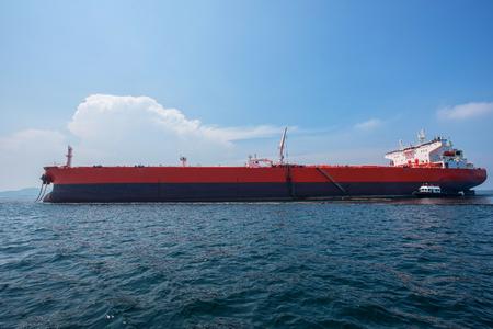 oil tanker, gas tanker in the high sea.
