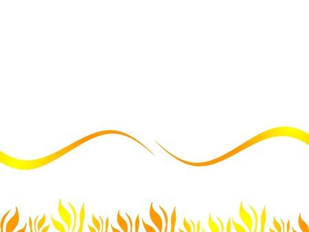 distort: distorsionar y fondo de la hierba amarilla