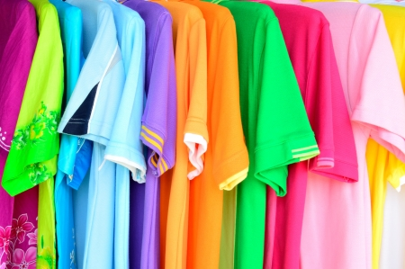 the colorful polo shirt background photo