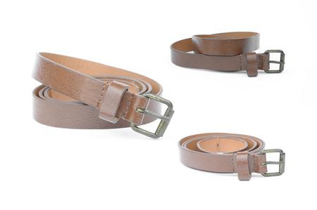 waist belt: set of woman waist belt isolated on white