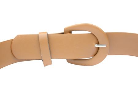 waist belt: brown waist belt for woman isolated on white