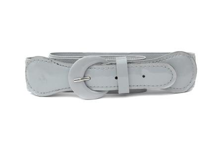 waist belt: gray waist belt of woman isolated on white
