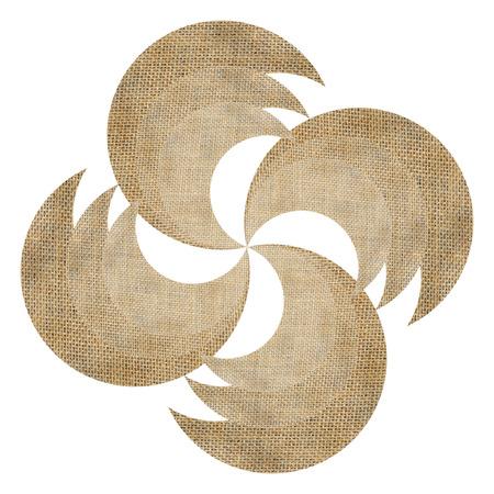 wind wheel: burlap wind wheel isolated on white