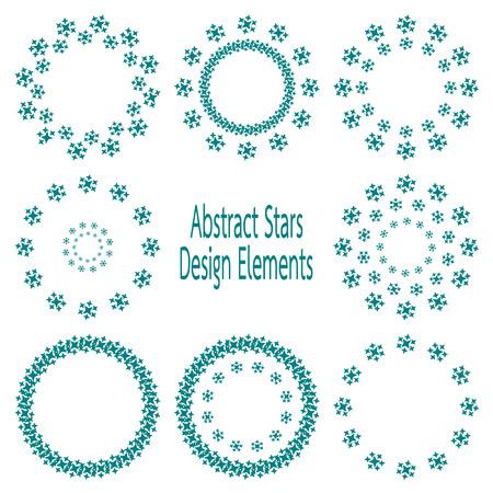set abstract star design element Vector