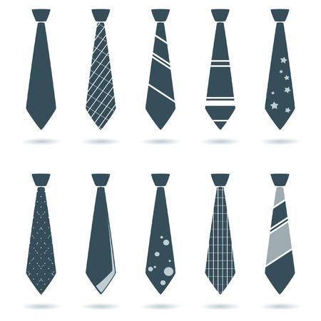 set of tie for businessman Vector