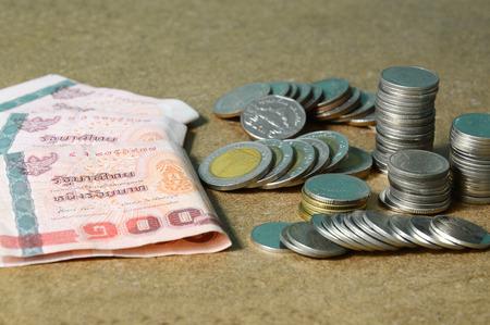 Thailand money coin and bank photo