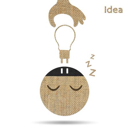 shutdown: hand pull light bulb out from head, concept shutdown idea