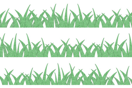 grass blades: burlap green grass isolated on white background Stock Photo