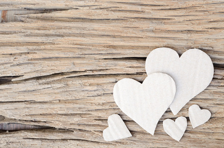 paper heart on wood background, valentines background photo