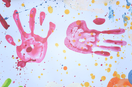 handprint: colorful handprint use for background
