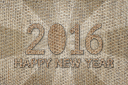 happy new year text: Happy New Year 2016, Text design from sack