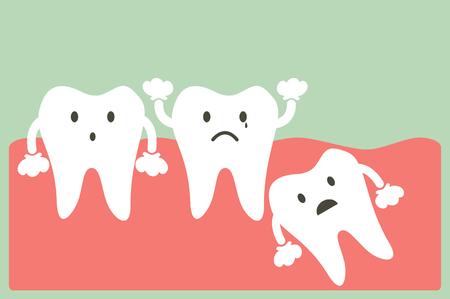 Zahn Cartoon-Vektor, Weisheitszahn