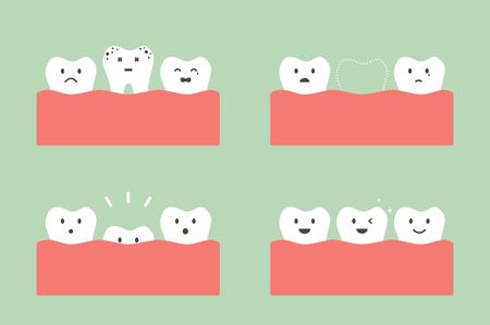 Tooth cartoon style