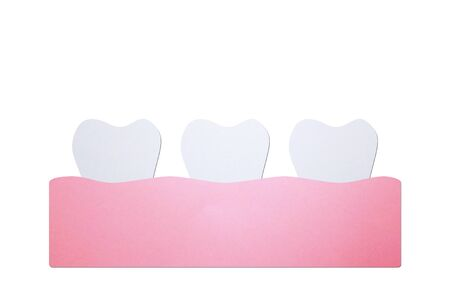 healthy tooth - dental cartoon paper cut style cute character for design