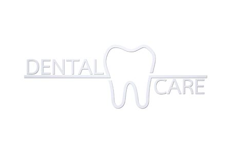 healthy tooth with dental care word - teeth cartoon paper cut style cute character for design