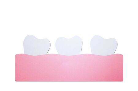 crowding teeth (malocclusion) or crooked teeth, dental problem - tooth cartoon paper cut style cute character for design