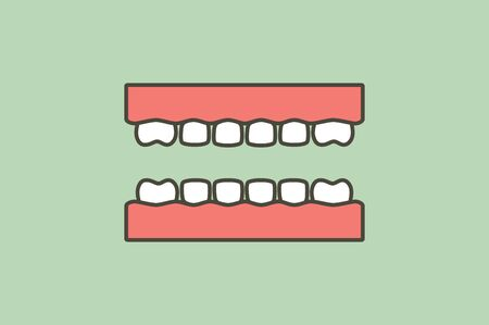 model tooth of healthy teeth - dental cartoon vector flat style cute character for design Illustration