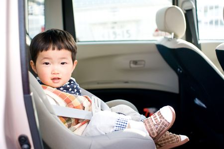 Child in car photo