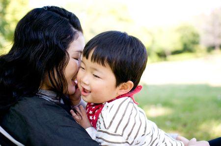 母と子 写真素材