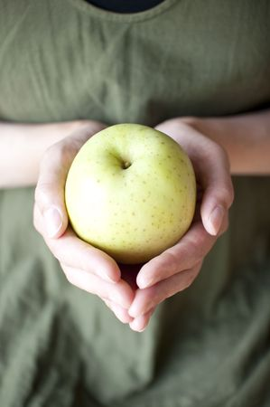 blue apple Stock Photo