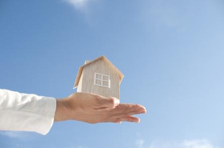 housing lot: blue skies