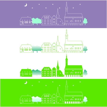ows: Rows of houses Illustration