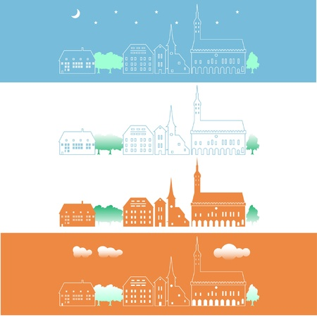 recollections: Rows of houses Illustration