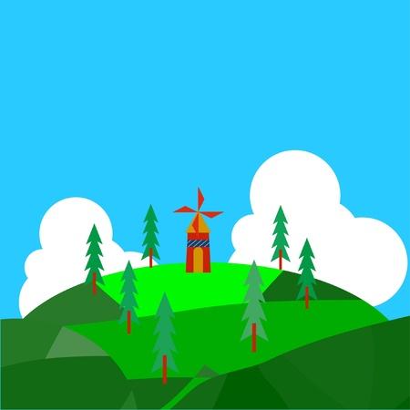 Windmill Stock Vector - 11838785