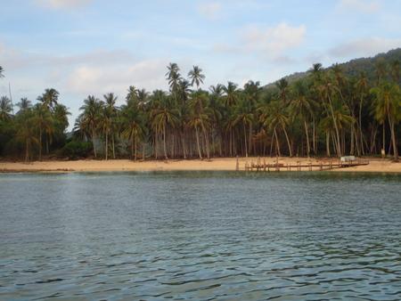 redang: jetty at redang island Stock Photo
