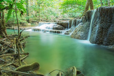Sixth floor of Huay Mae Kamin Waterfall, Khuean Srinagarindra National Park, Kanchanaburi, Thailand