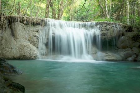 Huay mae Ka Min waterfall in Thailand Banco de Imagens - 84313280