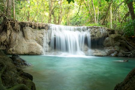 Huay Mae Kamin Waterfall , Kanchanaburi, Thailand
