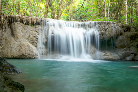Huay mae Ka Min waterfall in Thailand Banco de Imagens