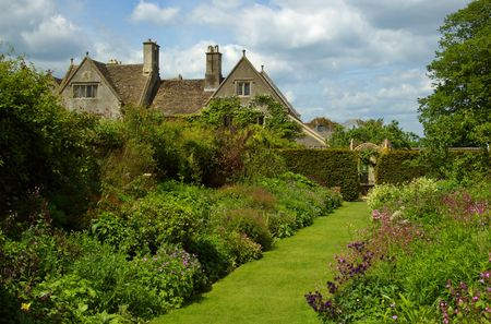 english west country: Country Garden Stock Photo