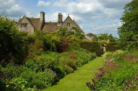 english garden: Country Garden Stock Photo