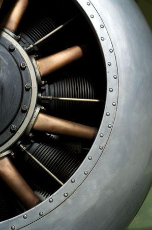 aero: A First world war aero engine Stock Photo