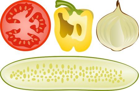 Conjunto de hortalizas