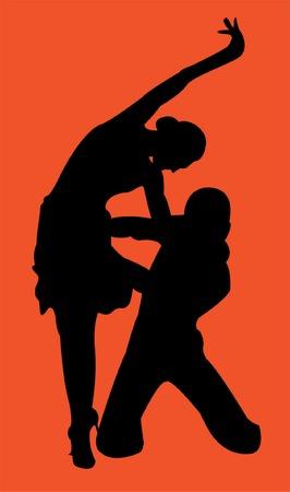 hustle: Hustle dancers Illustration