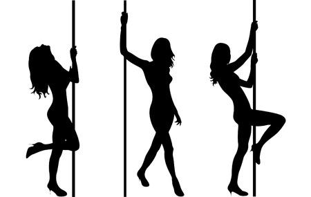 harmonous: Pole dancers Illustration