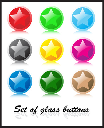 Set of glass buttons Stock Vector - 3059543