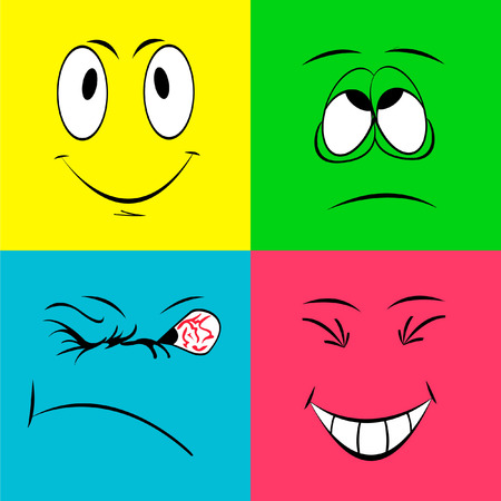 affliction: Cheerful smiley faces