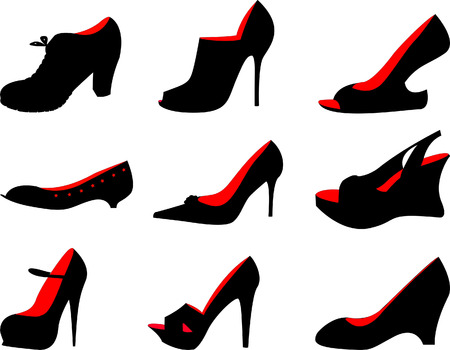 shoes vector: Female shoes Illustration