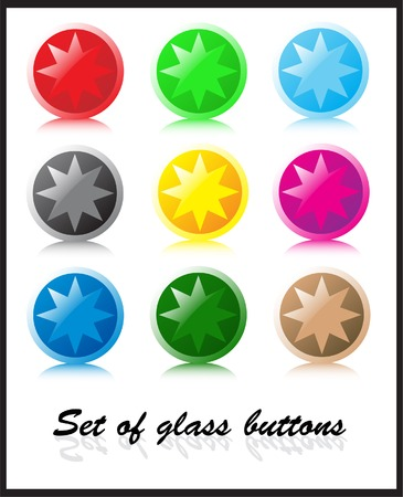 Set of glass buttons Stock Vector - 3130647
