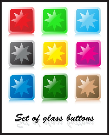 Set of glass buttons Vector