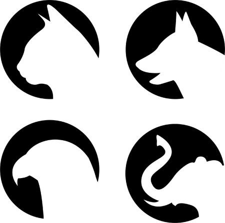 tete chien: Logo animaux  Illustration