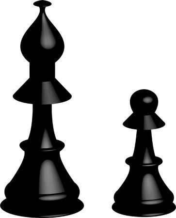 Black chess figures Vector
